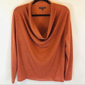 Eileen Fisher 100% Merino Wool Cowl Neck Knit Top